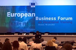 European Business Forum on Vocationnal Training – Brussels, 7/8 June 2012