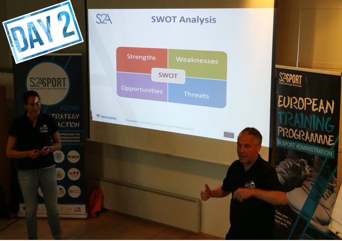 Day 2 of S2A-Sport European Training Programme emphasised the crucial role of people
