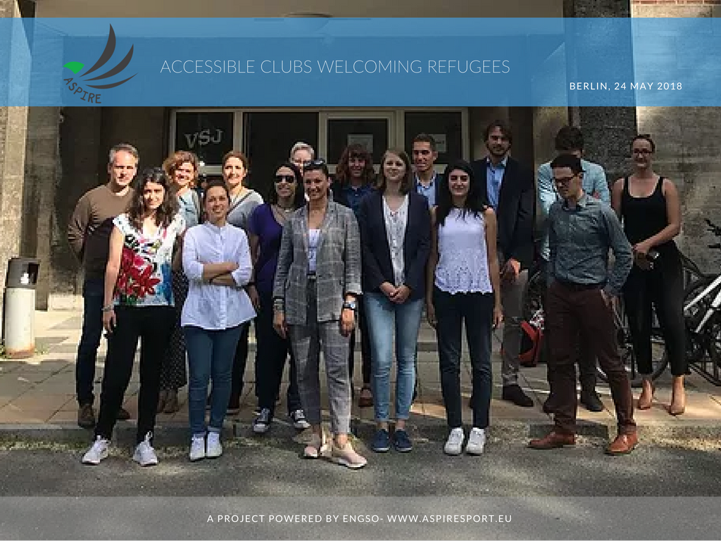 ASPIRE partners met in Berlin to share progress on their journey towards inclusive clubs welcoming refugees