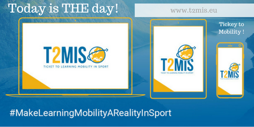 Thrilled to launch T2MIS – a platform to support learning mobility in sport