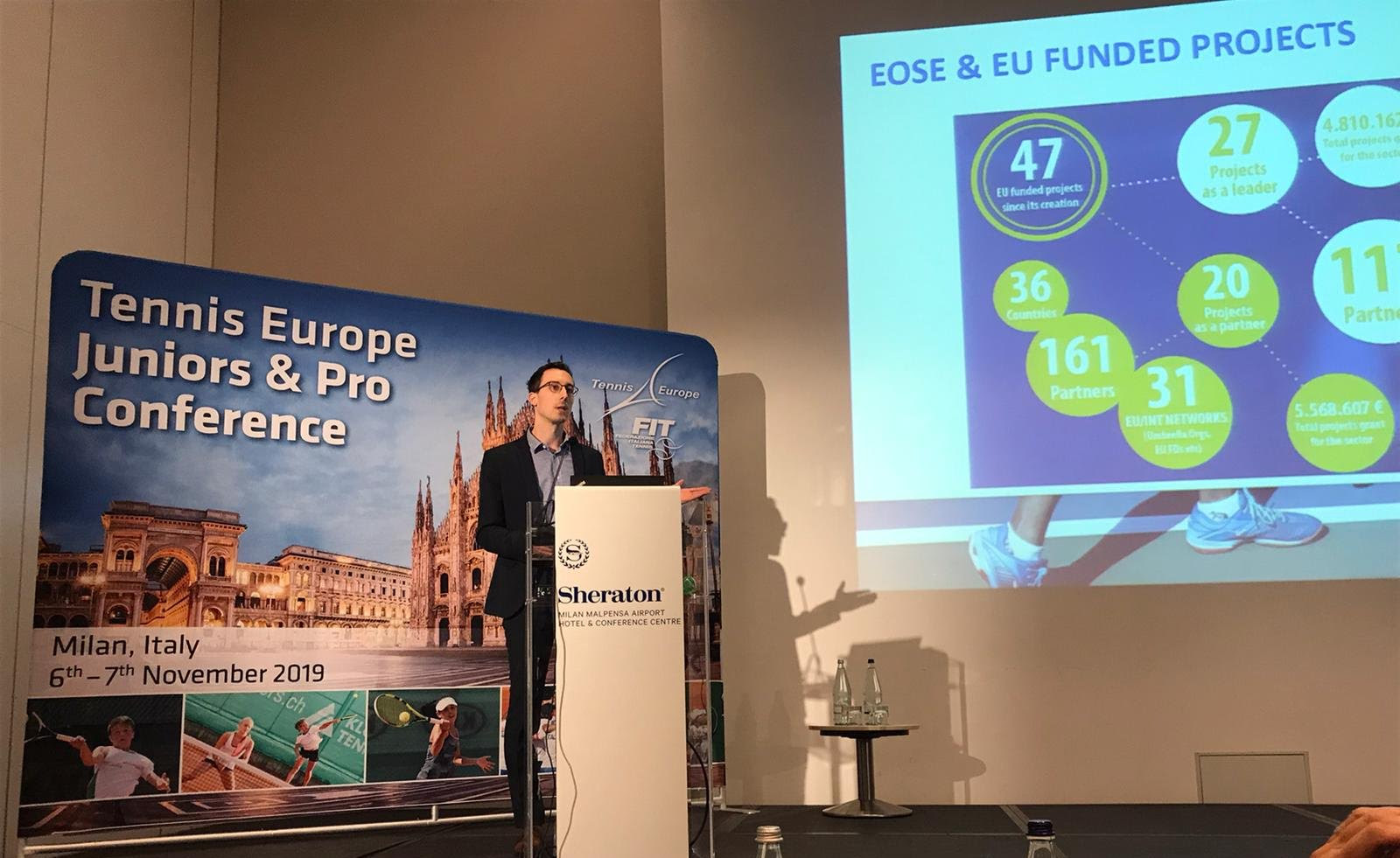 EOSE contributed to the Tennis Europe Juniors and Pro Conference