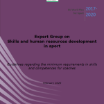 The European commission published guidelines regarding the minimum requirements in skills and competences for coaches